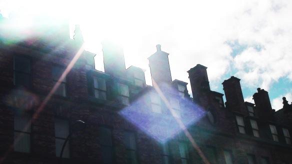 sheffield roof in sunlight